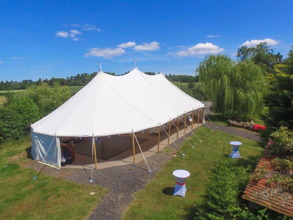 New Traditional Wooden Pole Marquee