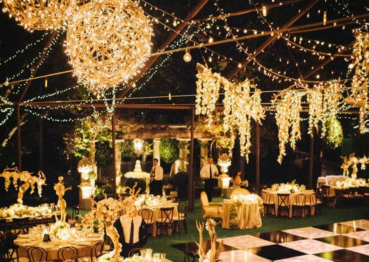 Black Tie Decor Themes for Your Marquee