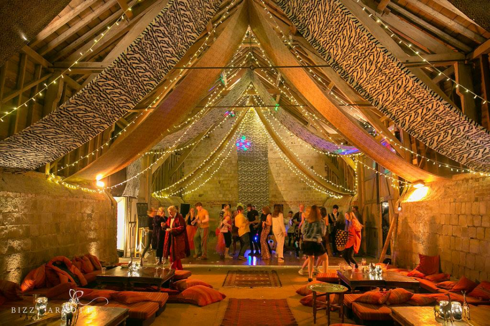Venue decoration of Wick Bottom Barn