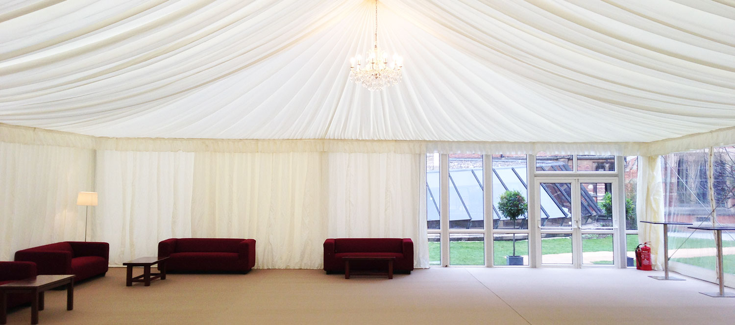 Corporate Marquee with Sofa's