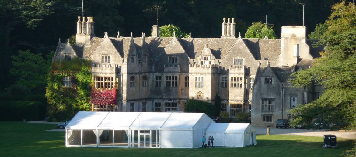Wedding Marquee at Stately Home