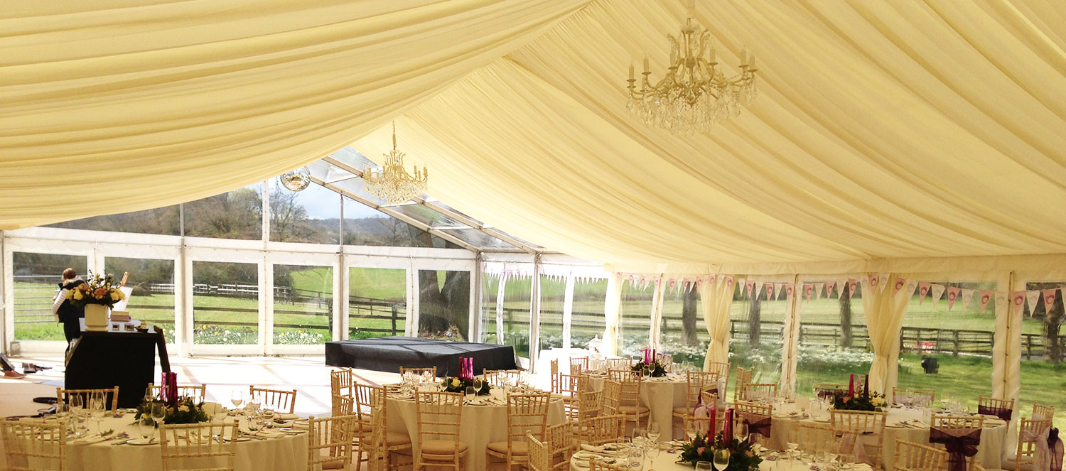 Wedding Marquee with Chandelier