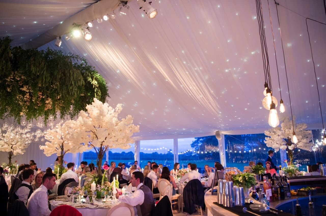how to use lighting in a marquee