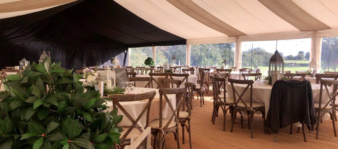 tables and chairs ready for the big wedding day