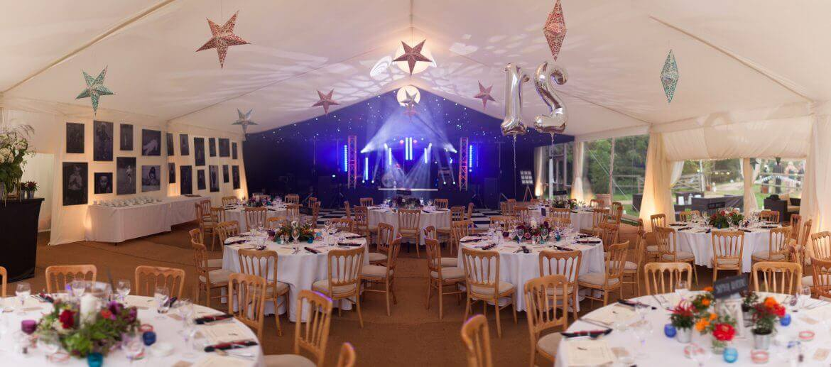 wedding reception with marquee hire wiltshire
